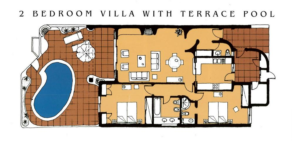 Acacia floor plan 2 bed